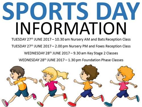 Sports Day Information | Penygarn Community Primary School